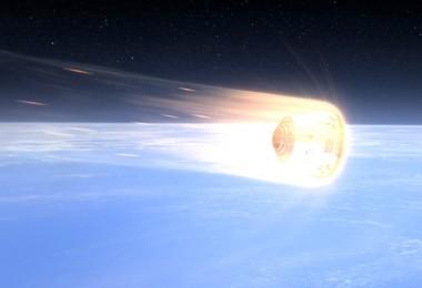 Wizualizacja Dragona powracającego z orbity